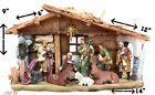 Nativity House 14 x 9 Baby Jesus Mary Joseph 3 King  3 Animal high quality