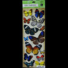 KCOMPANY Natural Butterflies Adhesive Chipboard STICKERS LG LONG PACK Butterfly
