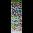KCOMPANY Butterflies Adhesive Chipboard STICKERS LG LONG PACK Happy Love Sweet