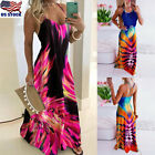 Womens Boho Backless Long Maxi Dress Sexy Ladies Summer Beach Holiday Sundress