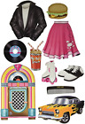 10 1950s Grease Sock Hop Party Decoration Die Cut Iconic 50s Themed CUTOUTS