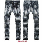 Autumn Denim Trousers Mens Stretch Pants Casual Biker Vintage Hip Hop Jeans