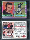 2001 Topps Archives Reserve Johnny Unitas Autograph Rookie Reprint On Card Auto
