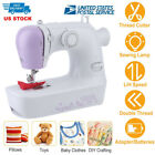 Portable Mini Electric Sewing Machine Desktop Handheld Tailor 2 Speed Foot Pedal