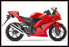CA Fit Kawasaki 2008 09 10 2012 Ninja250R EX250 Fairing Kit Set + Windshield Red
