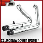 Fit Harley Dyna 2006 2011 Low Rider FXDL Full Exhaust Pipes Muffler C1