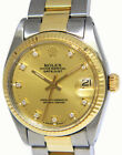 Rolex Datejust 14k Yellow Gold/Steel Champagne Diamond Dial 31mm Watch 6827