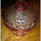 Vintage Kings Crown Diamond Point Covered Candy Dish