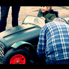 CLASSIC TRACK CAR FOR KIDS U MAKE1 FROM 2 GARDEN BINS 49cc OR BATTERY VIDEO