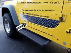 JEEP WRANGLER YJ or TJ Highly Polished Aluminum Diamond Plate Lower Door Guards