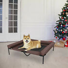 Elevated Dog Cat Sleeper Raised Bed Pet Cot Indoor Outdoor W Steel Frame