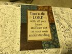 SPECIAL MOMENTS WALL ART Trust in the Lord Proverbs 35 New