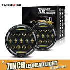 7 inch 75W LED Headlight H4 to H13 DRL Hi Low Beam For JEEP Wrangler JK 07 18 LX