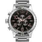 New Authentic NIXON Watch 51-30 CHRONOGRAPH Gray / Rose Gold A083-2064 A0832064