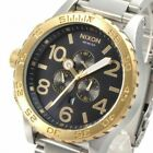 Authentic New Nixon A0831922 Gold Blue-sunray Watch 51-30 Chrono A083-1922