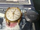 VINTAGE ENICAR DAY DATE SWISS 17 JEWEL WRISTWATCH POINTER RUNS BIG SECOND HAND