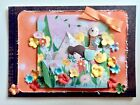 Handmade All Occasion 3 D Greeting Card Gorjuss Distress Flowers Bow Paper Boat