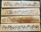 Stampin Up Best Boarders Mounted Wood Rubber Stamps Set of 4