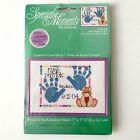 Special Moments by Janlynn Baby Handprints Birth Record Cross Stitch Kit Frame