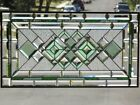 Going Green  Beveled Stained Glass Panel  30 1 2 x 16 1 2