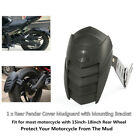 Motorcycle Rear Wheel Extension Fender Cover Splash Guard Mudguard Solid+Bracket
