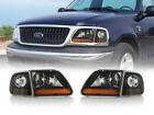 DEPO SVT Harley Davidson BLACK 4PCS Headlight + Corner Light For 97 03 Ford F150