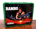 Rambo Original Lunch Box with Thermos Rare Vintage 1985 Sylvester Stallone