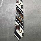Native Indian Indigenous Southwest Navajo Vintage 90s Mens Tie Russ Pearson