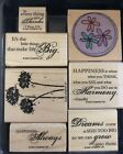 Stampin Up Happy Harmony Set Of 6 Wood Mounted Rubber Stamp SU Scrapbooking 2007