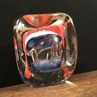 Vintage Paperweight Signed Daniel Salazar Art Glass Large Heavy PRIORITY MAIL