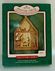 HALLMARK  MINIATURE CRECHE  MULTI-PLATED BRASS 1987 Ornament  3rd in Series