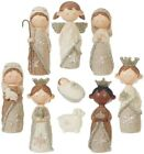 Raz Imports 10 PC NATIVITY 45 childrens Resin sturdy Cozy Knits 3404134