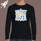 THE BIGGEST LOSER TV SHOW LOGO MENS LONG SLEEVE BLACK T SHIRT SIZE S TO 3XL
