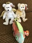 TY Beanie Babies Halo II Bear And 2004 Signature Bear And Iggy