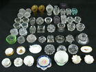 Vintage Salt Dip Glass and Porcelain Collection of 52 Pieces