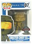 Funko Pop Master Chief With Cortana Gold Chrome #07 Halo Exclusive Vinyl Figure