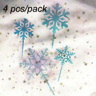 Ornament Decorations Snowflake Shape Cake Topper Cupcake Tag Birthday Party
