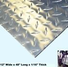 Aluminum Polished Diamond Plate 12 Wide x 48 Long x 1 16 Thick Alloy 3003