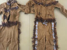 Lot Of 2 Vtg 50s Walls of Texas Childs Native American Indian Outfit 8 And 6