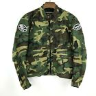 Mens Vanson Leathers Suzuki Motorcycle ATV Camo Jacket Size XL