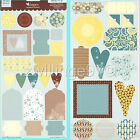 HEIDI GRACE WINNEFRED ST SHAPES CARDSTOCK STICKERS 2 sheets 42 pc Embellishments