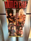 MOTLEY CRUE autographed SHOUT @ the DEVIL poster all 4 vintage 15