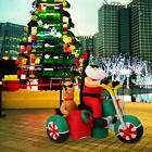 6 Christmas Decoration Inflatable Santa Clause Reindeer Motorcycle Outdoor Yard