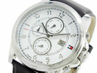 NIB Tommy Hilfiger 1710294 Multi-Function White Dial Brown Leather Men's Watch