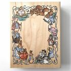 Stampendous BEATRIX POTTER CHARACTER FRAME Rubber Stamp Peter Rabbit Wood