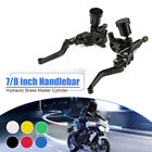 Pair 7 8 Motorcycle Universal Hydraulic Brake Master Cylinder Clutch Lever