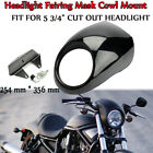 Front Headlight Fairing Mask Cowl Mount For Harley Sportster Dyna FX XL 883 1200