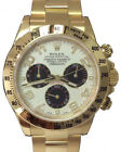 Rolex Daytona 18k Yellow Gold Panda Dial Chronograph Mens Auto Watch Box 116528