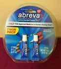 ABREVA Cream Twin Pack (2 Tubes) 2g ea. Ex. 11/2020 or Later  Free Shipping