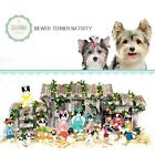 SAVANNASHOPS Dog Nativity Biewer Terrier Gifts Nativity Sets Dog Lover Gift